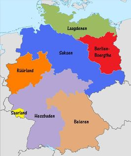 Duitsland tot 2005, met Beieren in het roze[1]