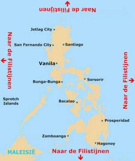 Kaart van de Filipijnen