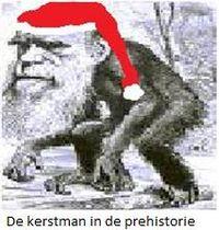 De kerstman in de  prehistorie