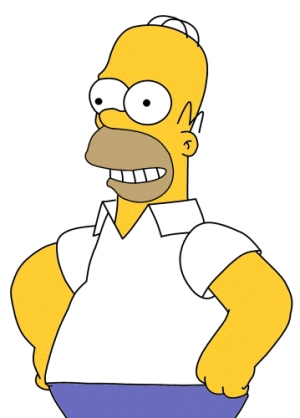 Homer Simpson, en anerkjent filosof, ordfører i springfield.