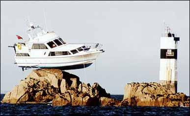 en cruise båt vibrerende c ringer
