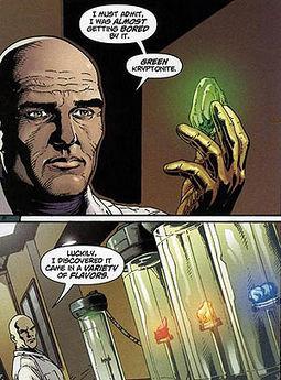 Lex Luthor oppdager flere farger og smaker på kryptonitt.