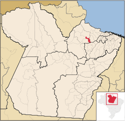 Localização de São Sebastião da Boa Vista