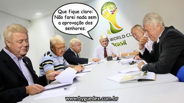 Ricardo Teixeira em reunião com seus conselheiros.