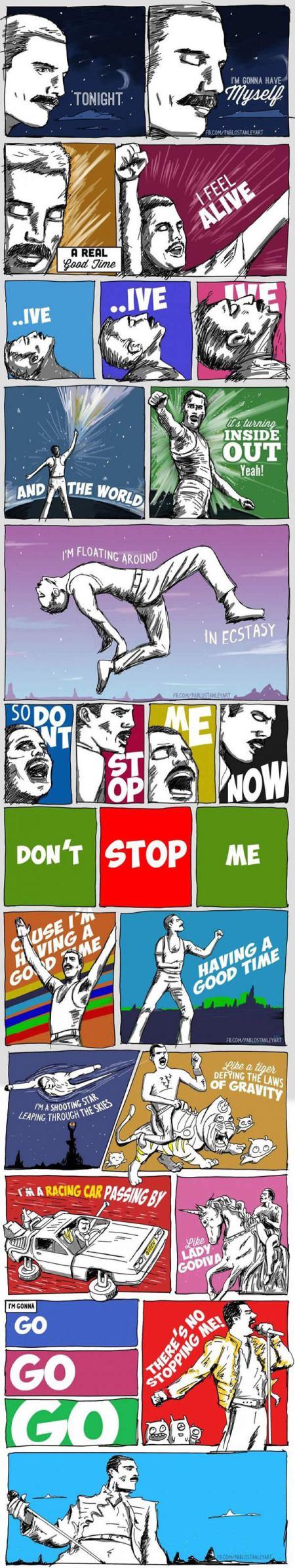 letra de dont stop me now: