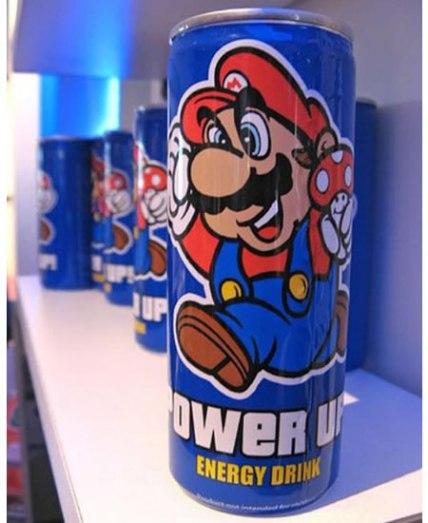 Energético um dos produtos da Super Mario Itens