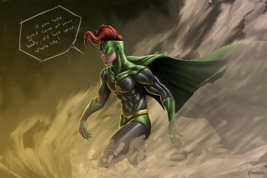 Versão original da roupa de ação do Capitão Óbvio