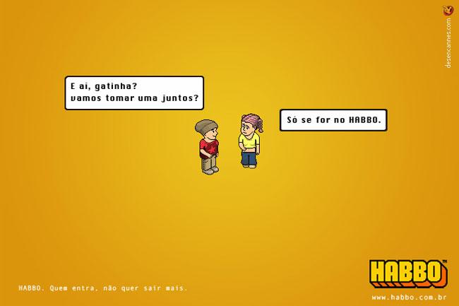 Propaganda da segunda versão do jogo: Habbo Motel