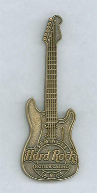 Uma bela guitarra de ouro da Hard Rock!!