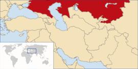 Localização de A Onipotente República do Quirguistão Ocidental
