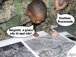O exército já tentou, mas não localizou a graça em Zorra Total.