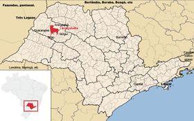 Localização de Araçatuba