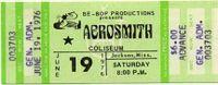 Um ingresso pro show doAerosmith