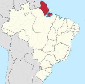 Localização do Território do Amapá