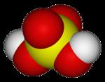 Estrutura química de Ácido sulfúrico