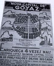 Cartaz da semana passada anunciando a criação de Goyania