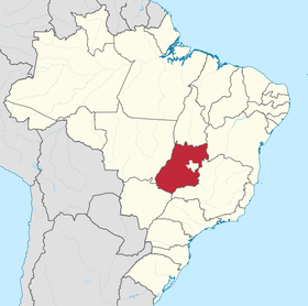 Localização do Goiás