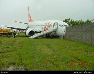 61d74b39bc07 Avião da Gol tentando parar na pista do Aeroporto de Congonhas