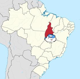Localização do Tocantins