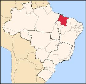 Localização do Maranhão