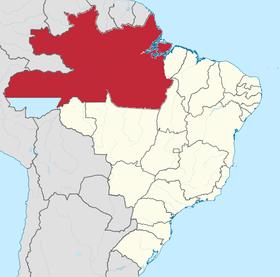 Localização do Amazonas