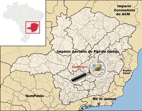 Localização de Itabira