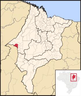 Localização de Imperatriz do Maranhão