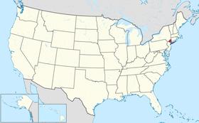 Localização de Nova York, o estado todo