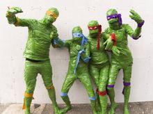 Um grupo diversificado de tartarugas