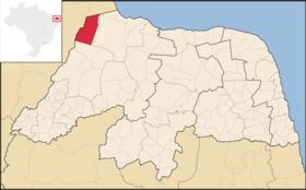 Localização de Braúna