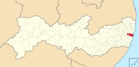 Localização de Cabo do Santo Agostinho