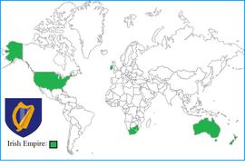 Localização de Irlanda