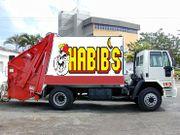 Caminhão do Habib's levando alimentos sempre fresquinhos
