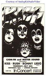 O Rush abriu dezenas de shows para o Kiss no início da carreira.