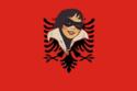 Bandeira de República da Albânia cu da Europa