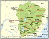 O mapa de Minas Gerais incluindo possessões, territórios intra e ultramarinos e províncias autônomas e rebeldes, além é claro dos TREM (Territórios Remotos do Estado de Minas)