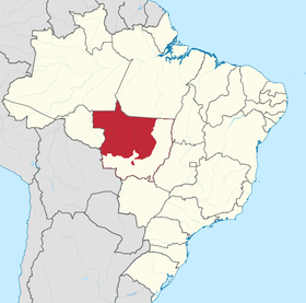 Localização de Mato Grosso do Norte