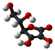 Estrutura química de Ácido ascórbico