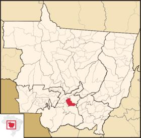 Localização de Cuébão