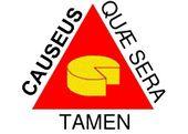 """A bandeira de Minas Gerais com a inscrição em latim """"Causeus Quae Sera Tamem"""" que significa """"Queijos, ainda que à tardinha!"""""""