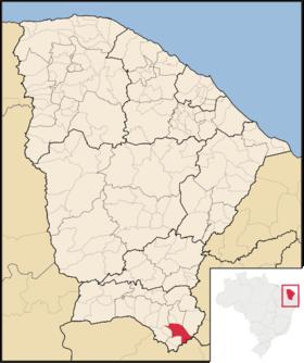 Localização de Brejo Santo (esse nem precisa zoar o nome)