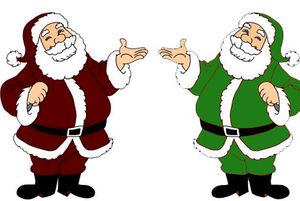 6818c17cd Papai Noel quando ainda era amiguinho do seu irmão marciano.