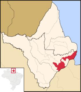 Localização de Macapá