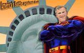Super herói protegendo a cidade!