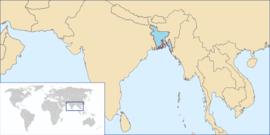 Localização de Bangladesh!!!