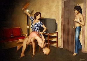 Over the knee spanking positions pics
