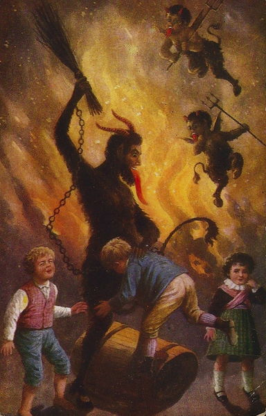 File:Krampus punishing naughty kids.jpg