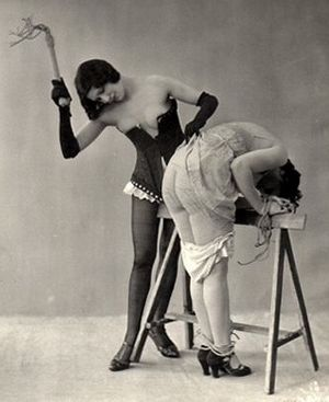 sawhorse   spanking art