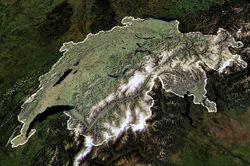 Розташування Швейцарії