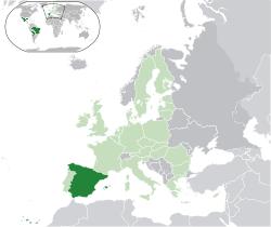 Розташування Іспанії